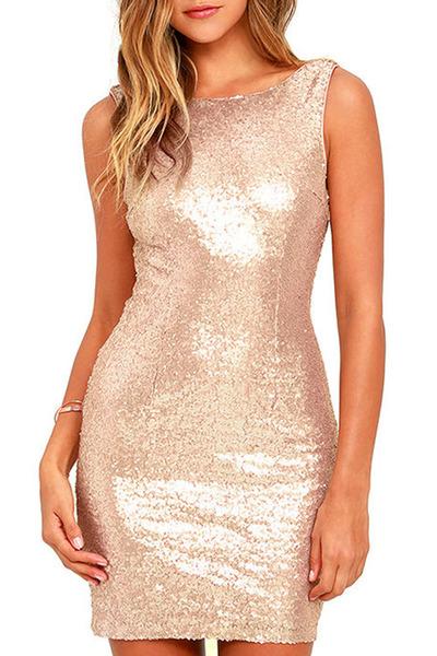 boat neck dress - plain dress - bodycon dress - shiny dress