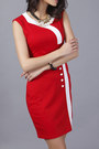 Red-square-fashionmia-dress-red-neck-fashionmia-dress