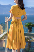 v-neck Fashionmia dress - drawstring back Fashionmia dress - Fashionmia dress