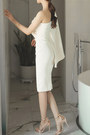 White-open-shoulder-fashionmia-dress-white-plain-fashionmia-dress