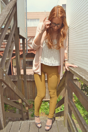 dark khaki high-waisted American Apparel pants