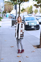 cream navajo BB Dakota sweater - crimson Michael Kors boots
