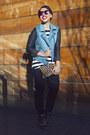 Blue-lamour-by-nanette-lepore-jacket-black-lamour-by-nanette-lepore-pants
