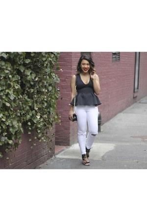peplum cynthia rowley top - finn skinny Joes Jeans jeans