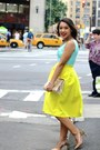 Yellow-midi-top-shop-skirt