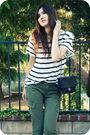 Green-james-jeans-pants-white-h-m-top-beige-pour-la-victoire-shoes-black-c