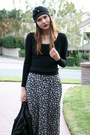 Black-bebe-sweater-blue-vintage-skirt-black-kate-spade-boots-black-modclot