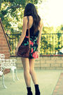 Pink-vintage-shorts-black-theory-top-brown-vintage-purse-black-steve-madde