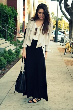 beige Crispin and Basilio jacket - black H&M skirt - black Cole Haan shoes - bla