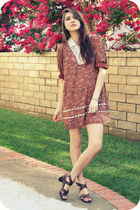 red Queens Wardrobe dress - brown Urban Outfitters shoes