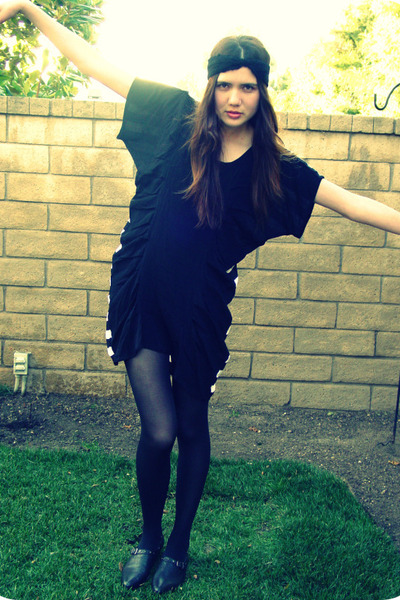 black stylestalker dress - black deena and ozzy shoes - black DIY accessories