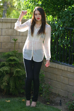 white free people top - black Urban Outfitters jeans