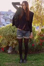 Black-bebe-blazer-black-diy-t-shirt-blue-hollister-shorts-black-betsey-joh