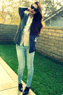 Gray-dkny-blazer-white-joie-blouse-blue-ksubi-jeans-black-banana-republic-
