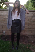 Forever 21 sweater - Forever 21 top - vintage skirt - banana republic shoes