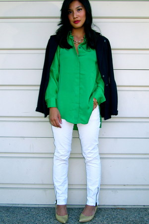 green 31 Phillip Lim for Target shirt - Armani Exchange blazer