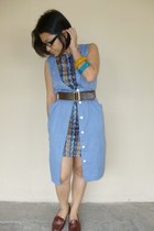 sky blue unknown brand dress - brown SUB Zero dress