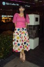 Bubble-gum-from-korea-blouse-polka-dots-skirt-light-pink-sandals-white-fro