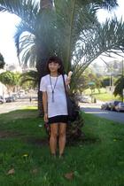 The Row shirt - American Apparel skirt - Alexander Wang purse - Target necklace