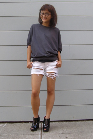 Target sweater - Express shorts - alice  olivia for Payless shoes