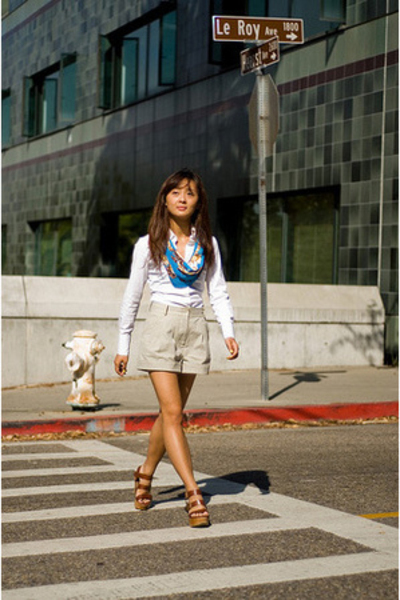 Thomas Pink shirt - Alexander Wang shorts - Urban Outfitters scarf - Pierre Hard