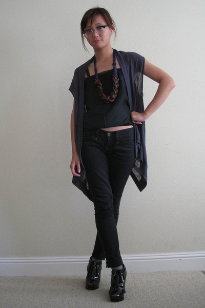 Forever21 vest - Old Navy top - Gap pants - payless shoes