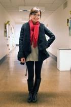 Ryn jacket - Tsumori Chisato top - H&M scarf - vintage boots