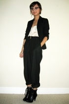 Max Mara pants - The Limited blazer - Forever21 top - payless shoes - vintage be
