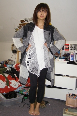 Gap shirt - Plastic Island jacket - Forever21 leggings