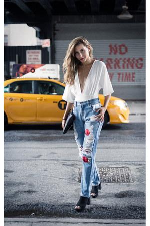 Medusa bags bag - Nasty Gal jeans - Bodysuit bodysuit - asos heels