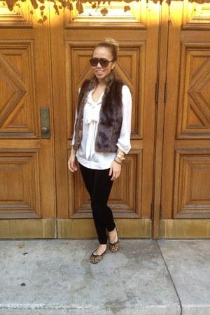 brown xhilaration flats - black H&M leggings