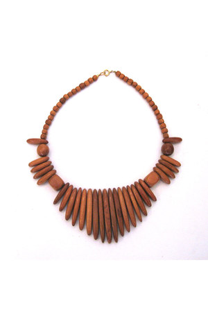 burnt orange necklace
