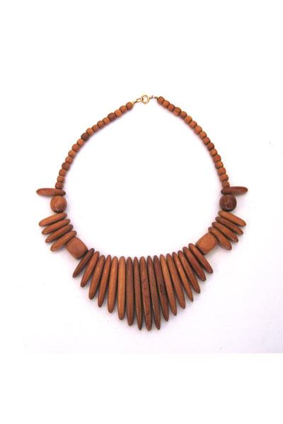burnt orange necklace