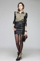 shirt - boots - skirt