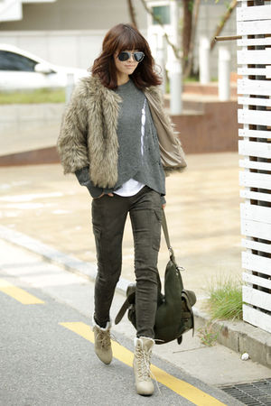 DAY coat - howluk jeans - candy bag - soyou shoes - dami sweater