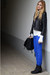 power shoulder jacket - electric blue rag&bone jeans - Ralph Lauren bag