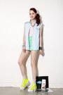 Spike-shirt-chiffon-top-chiffon-skirt