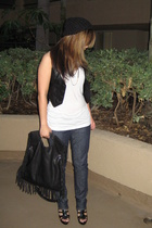 H&M vest - Zara purse - citizens of humanity jeans - Zara shoes