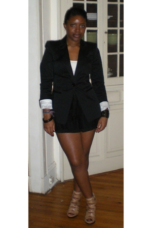 black Express blazer - dress - shoes