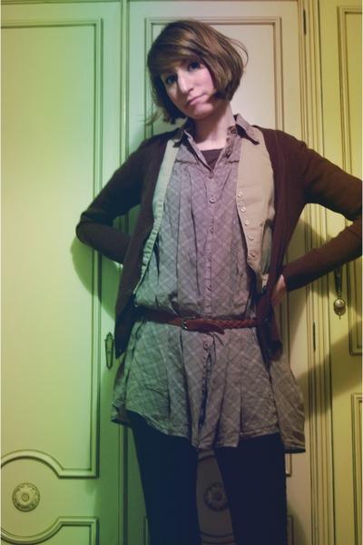 Mango jacket - vintage jacket - fridays project blouse - H&M belt