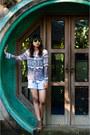 Lace-pattern-unbranded-shirt-sky-blue-stripes-topshop-shorts