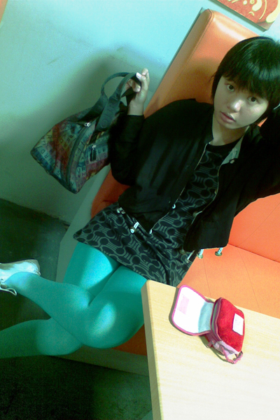 jacket - dress - tights - shoes - accessories