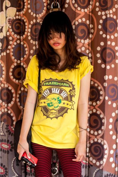 stripws Bandung leggings - Suku Analog top