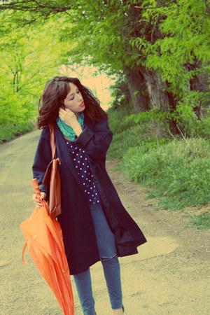 BLANCO jeans - vintage jacket - Promod bodysuit - Lefties heels
