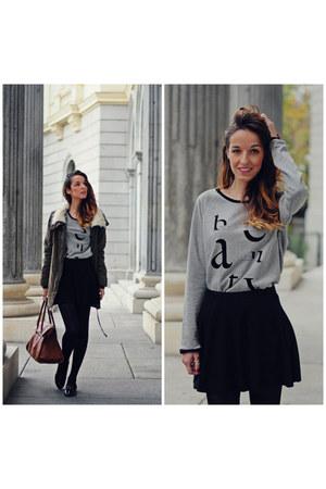 black Alex Silva shoes - silver Promod sweater