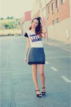 gray skirt PERSUNMALL skirt
