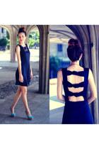 navy dress choiescom dress - aquamarine heels sam edelman heels