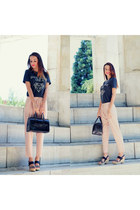 black bag Refresh bag - neutral pants VJ-style pants