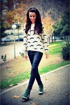 Zara sweater - Pull & Bear pants - xti sneakers