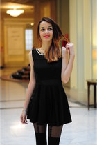black black dress Sheinsidecom dress - black legwear Primark socks